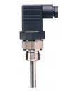JUMO Screw-in RTD (PT100) temperature probe with plug connector as per DIN EN 175301 (90.2044)